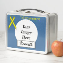 Yellow Standard Ribbon by Kenneth Yoncich Metal Lunch Box