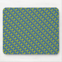 Yellow Standard Ribbon by Kenneth Yoncich Mouse Pad