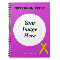 Yellow Standard Ribbon by Kenneth Yoncich Notebook