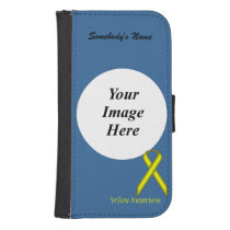 Yellow Standard Ribbon by Kenneth Yoncich Phone Wallet