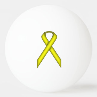 Yellow Standard Ribbon by Kenneth Yoncich Ping Pong Ball