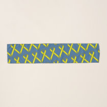 Yellow Standard Ribbon by Kenneth Yoncich Scarf