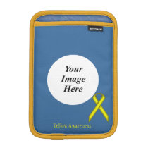 Yellow Standard Ribbon by Kenneth Yoncich Sleeve For iPad Mini