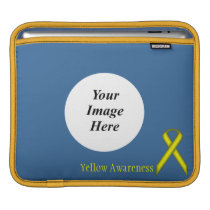 Yellow Standard Ribbon by Kenneth Yoncich Sleeve For iPads
