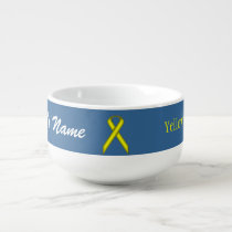 Yellow Standard Ribbon by Kenneth Yoncich Soup Mug