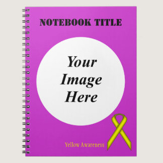 Yellow Standard Ribbon by Kenneth Yoncich Spiral Notebook