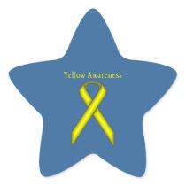 Yellow Standard Ribbon by Kenneth Yoncich Star Sticker