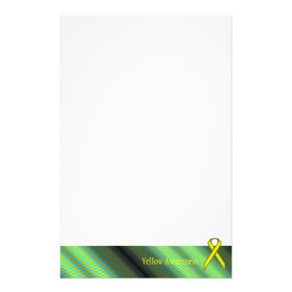 Yellow Standard Ribbon by Kenneth Yoncich Stationery