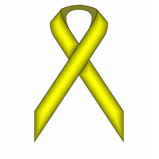 Yellow Standard Ribbon by Kenneth Yoncich Statuette