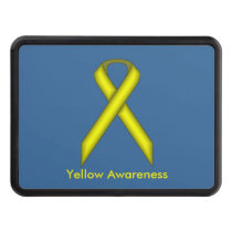 Yellow Standard Ribbon by Kenneth Yoncich Trailer Hitch Cover