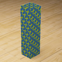 Yellow Standard Ribbon by Kenneth Yoncich Wine Gift Box