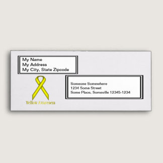 Yellow Standard Ribbon Envelope