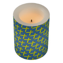 Yellow Standard Ribbon Flameless Candle
