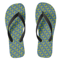 Yellow Standard Ribbon Flip Flops