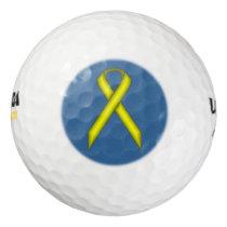 Yellow Standard Ribbon Golf Balls