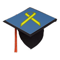 Yellow Standard Ribbon Graduation Cap Topper