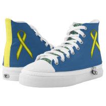 Yellow Standard Ribbon High-Top Sneakers