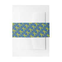 Yellow Standard Ribbon Invitation Belly Band