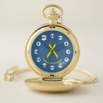 Yellow Standard Ribbon (Kf) by K Yoncich Pocket Watch