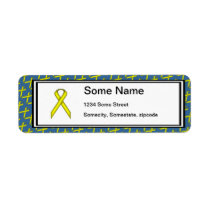 Yellow Standard Ribbon Label