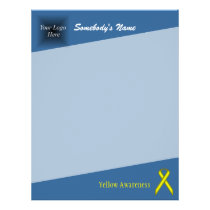 Yellow Standard Ribbon Letterhead