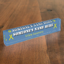Yellow Standard Ribbon Nameplate