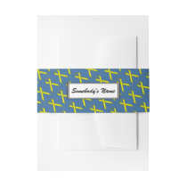 Yellow Standard Ribbon (Pers) Invitation Belly Band