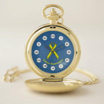 Yellow Standard Ribbon (Rf) by K Yoncich Pocket Watch