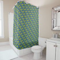 Yellow Standard Ribbon Shower Curtain
