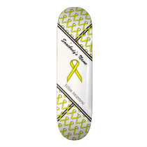 Yellow Standard Ribbon Skateboard Deck