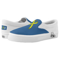 Yellow Standard Ribbon Slip-On Sneakers