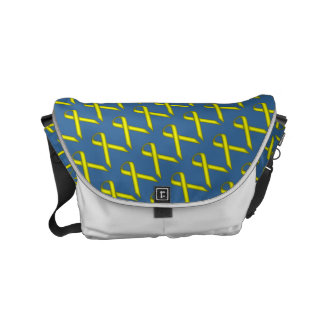 Yellow Standard Ribbon Small Messenger Bag