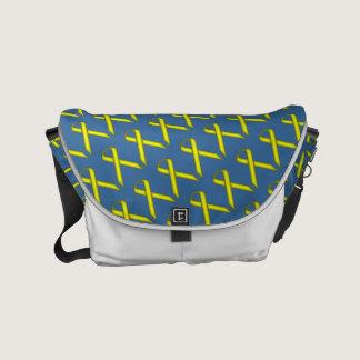 Yellow Standard Ribbon Small Messenger Bag