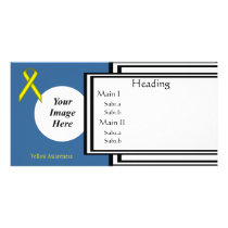 Yellow Standard Ribbon Template