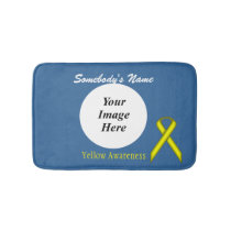 Yellow Standard Ribbon Template Bath Mat