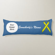 Yellow Standard Ribbon Template Body Pillow