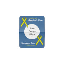 Yellow Standard Ribbon Template Business Card Holder