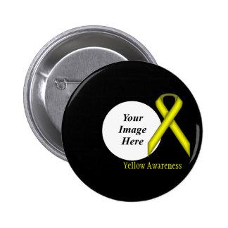 Yellow Standard Ribbon Template Button