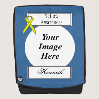 Yellow Standard Ribbon Template by Kenneth Yoncich Backpack