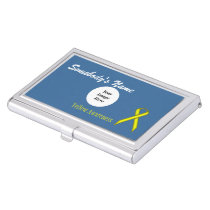 Yellow Standard Ribbon Template by Kenneth Yoncich Business Card Holder