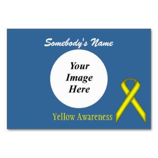 Yellow Standard Ribbon Template by Kenneth Yoncich Card