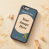 Yellow Standard Ribbon Template by Kenneth Yoncich Carved Maple iPhone 6 Bumper Case