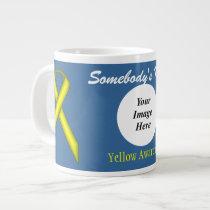 Yellow Standard Ribbon Template by Kenneth Yoncich Giant Coffee Mug