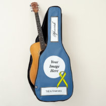 Yellow Standard Ribbon Template by Kenneth Yoncich Guitar Case