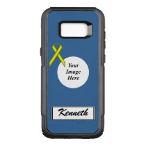 Yellow Standard Ribbon Template by Kenneth Yoncich OtterBox Commuter Samsung Galaxy S8  Case