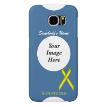 Yellow Standard Ribbon Template by Kenneth Yoncich Samsung Galaxy S6 Case
