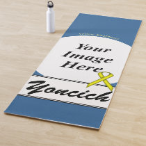 Yellow Standard Ribbon Template by Kenneth Yoncich Yoga Mat