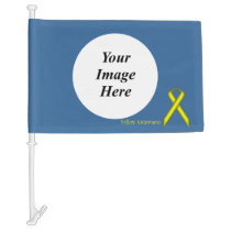 Yellow Standard Ribbon Template Car Flag