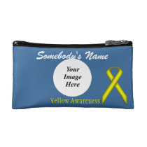 Yellow Standard Ribbon Template Cosmetic Bag