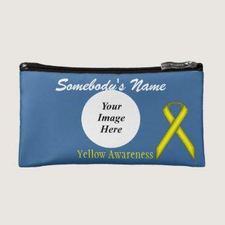 Yellow Standard Ribbon Template Cosmetic Bag
